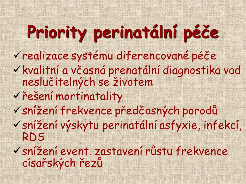 Priority perinatální péče