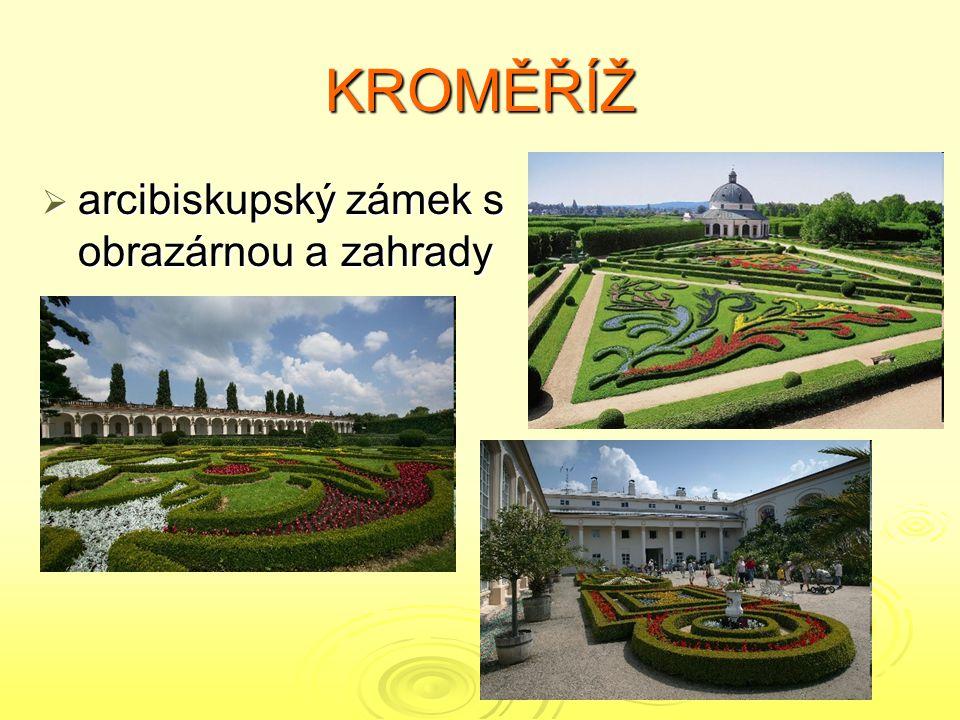 KROMĚŘÍŽ arcibiskupský zámek s obrazárnou a zahrady