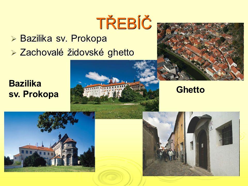 TŘEBÍČ Bazilika sv. Prokopa Zachovalé židovské ghetto