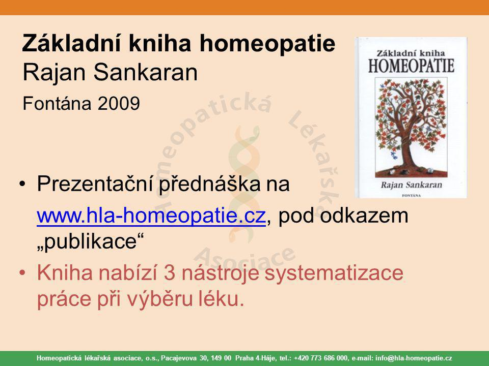 Základní kniha homeopatie Rajan Sankaran Fontána 2009