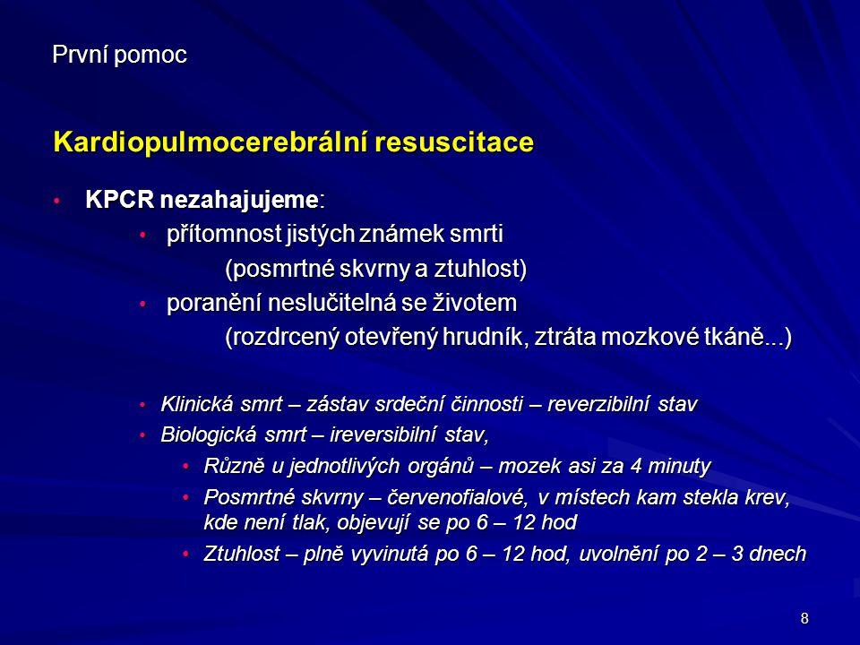 Kardiopulmocerebrální resuscitace