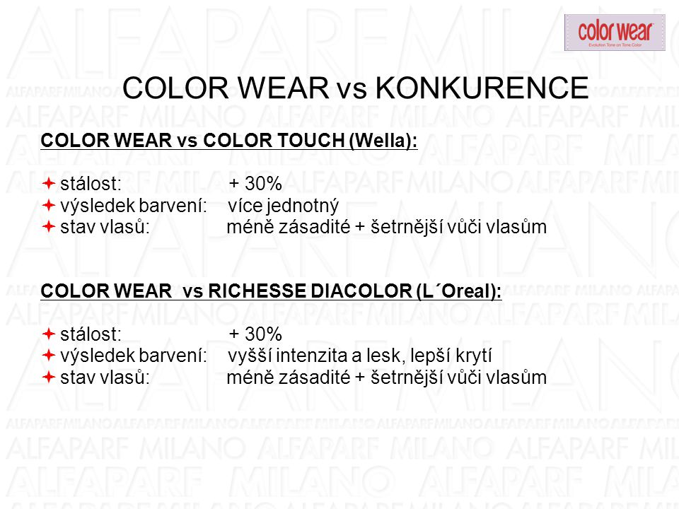 COLOR WEAR vs KONKURENCE