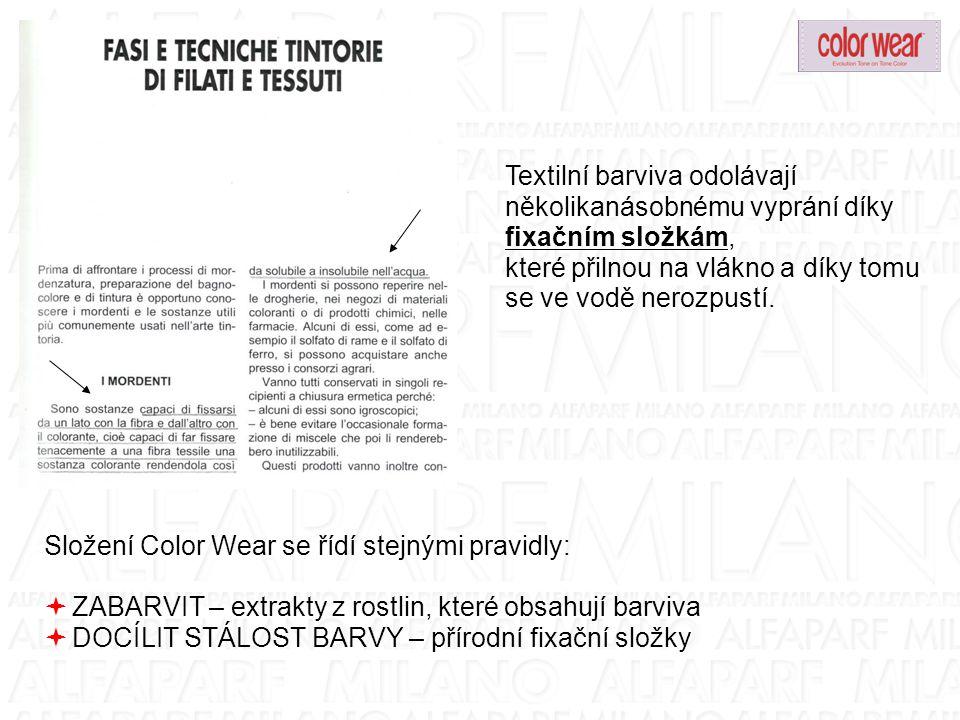 Textilní barviva odolávají několikanásobnému vyprání díky