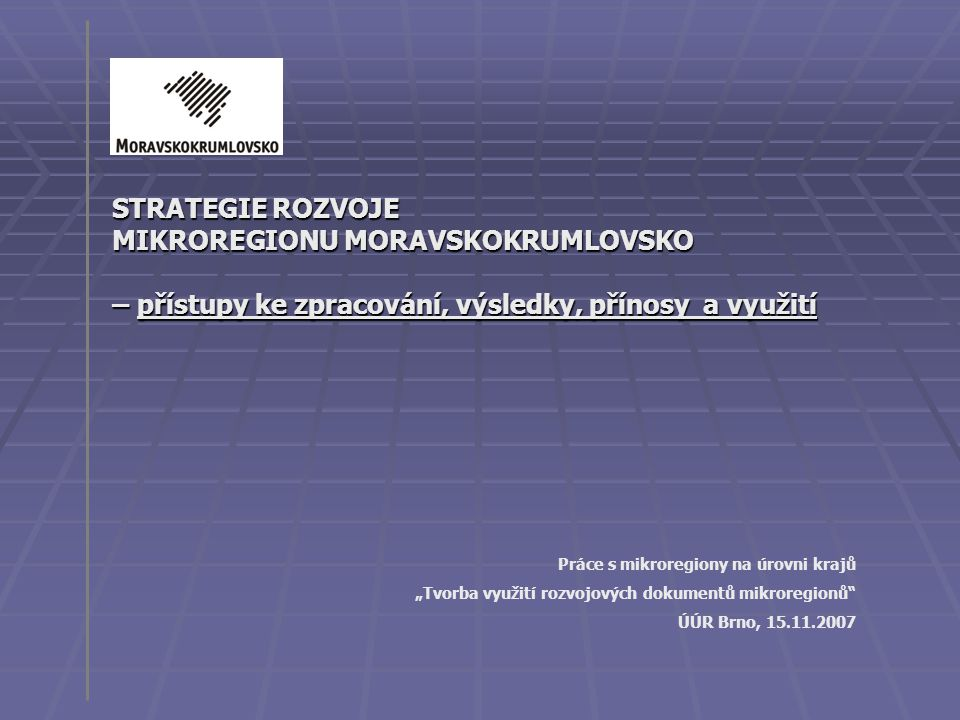 MIKROREGIONU MORAVSKOKRUMLOVSKO