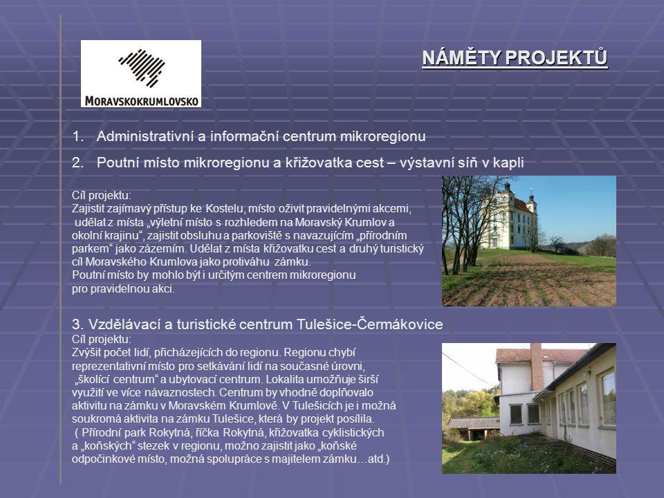 NÁMĚTY PROJEKTŮ Administrativní a informační centrum mikroregionu
