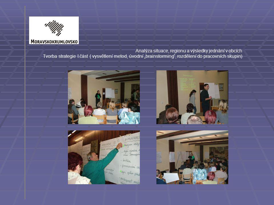 Analýza situace, regionu a výsledky jednání v obcích