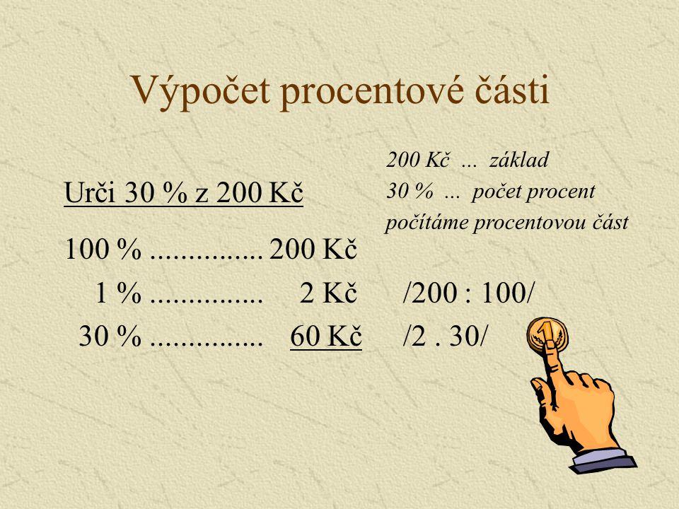 Výpočet procentové části