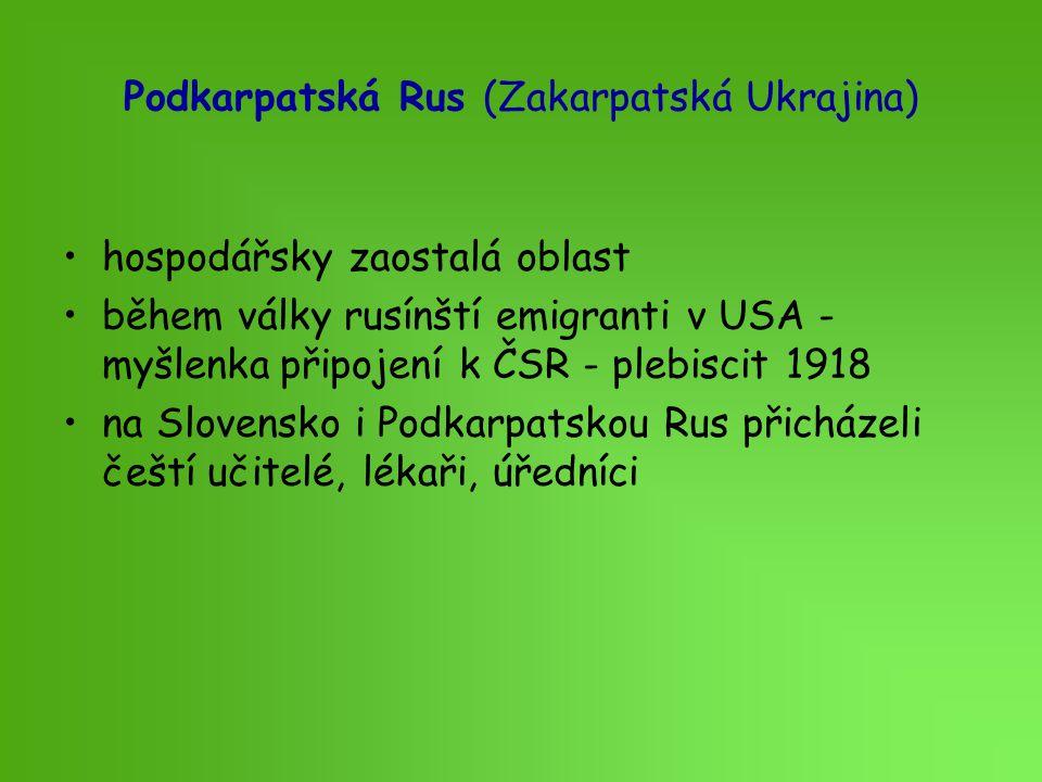 Podkarpatská Rus (Zakarpatská Ukrajina)
