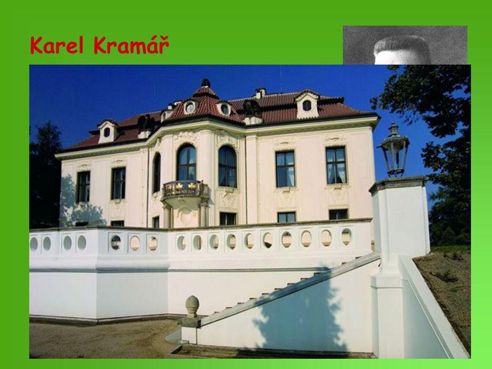 Karel Kramář 1860 - 1937. před válkou vůdce mladočechů, po převratu v čele národně demokratické strany.