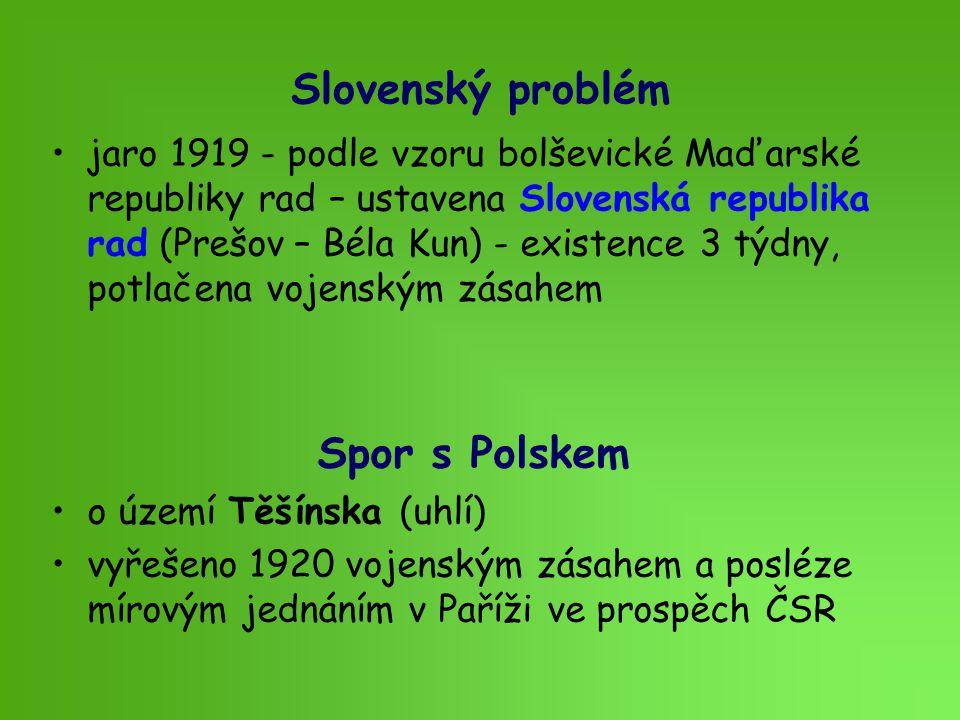 Slovenský problém Spor s Polskem