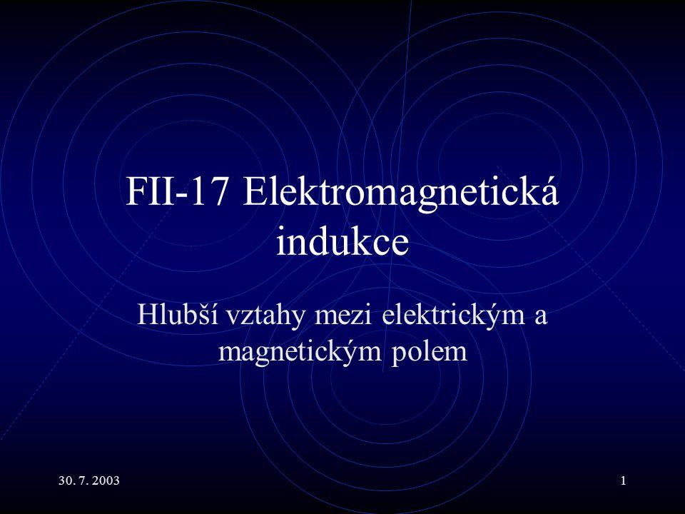 FII-17 Elektromagnetická indukce