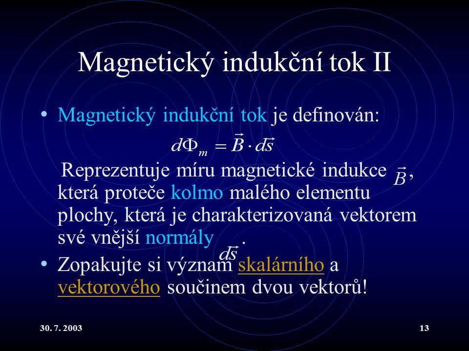 Magnetický indukční tok II