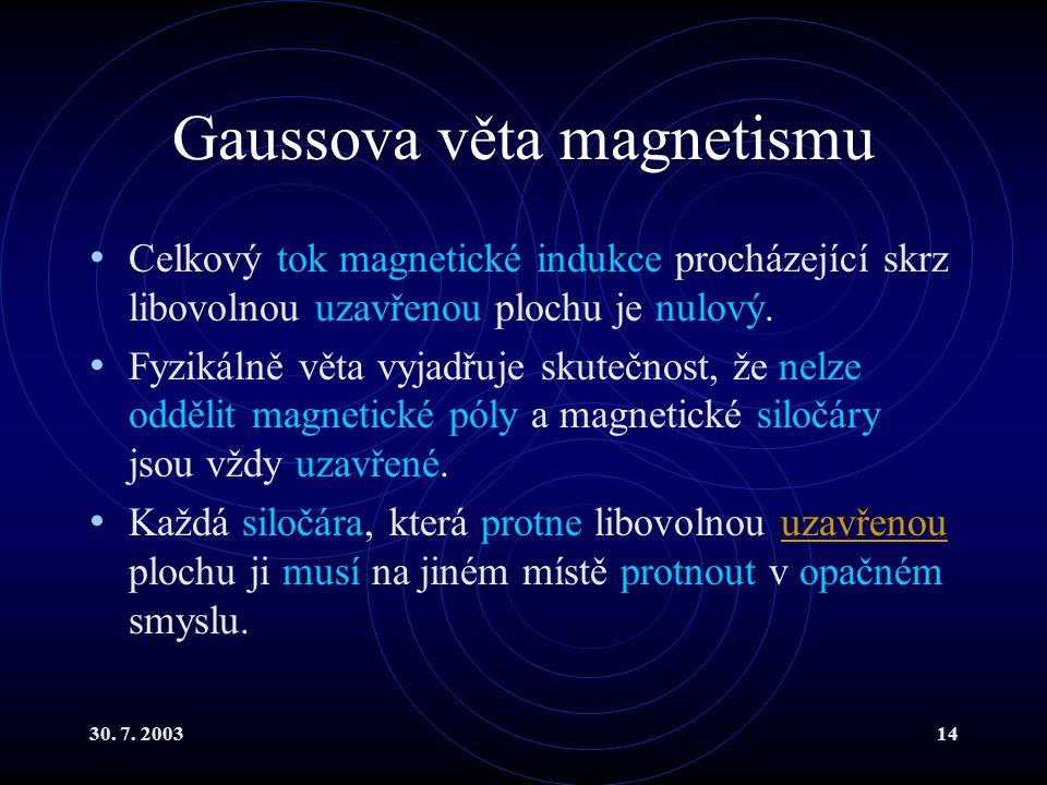Gaussova věta magnetismu