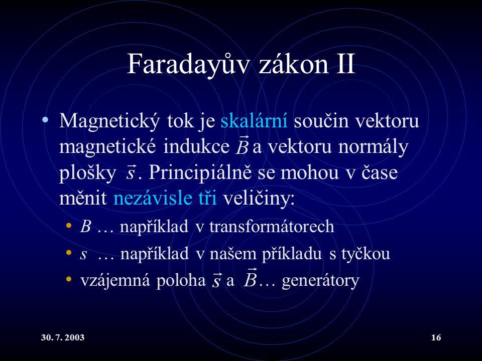 Faradayův zákon II