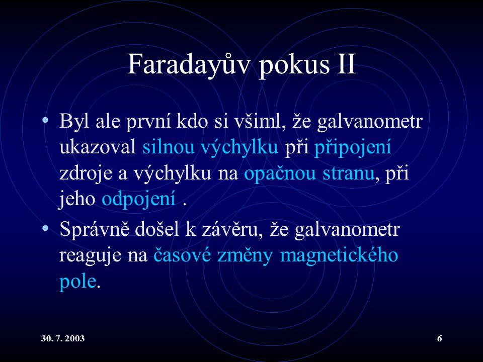 Faradayův pokus II