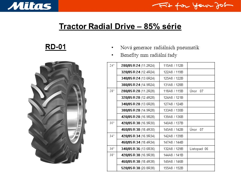 Tractor Radial Drive – 85% série