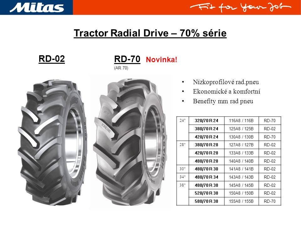Tractor Radial Drive – 70% série