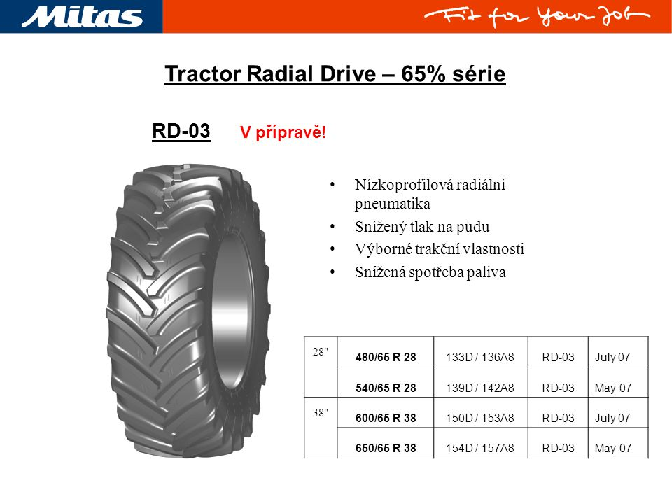 Tractor Radial Drive – 65% série