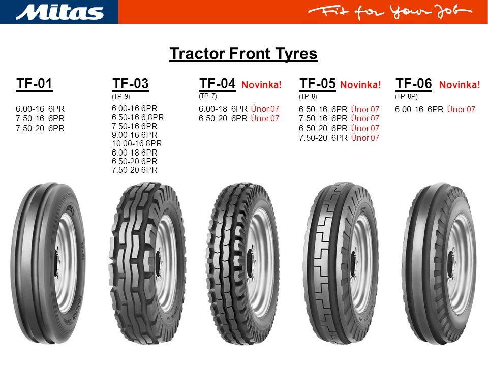 Tractor Front Tyres TF-01 TF-03 TF-04 Novinka! TF-05 Novinka!