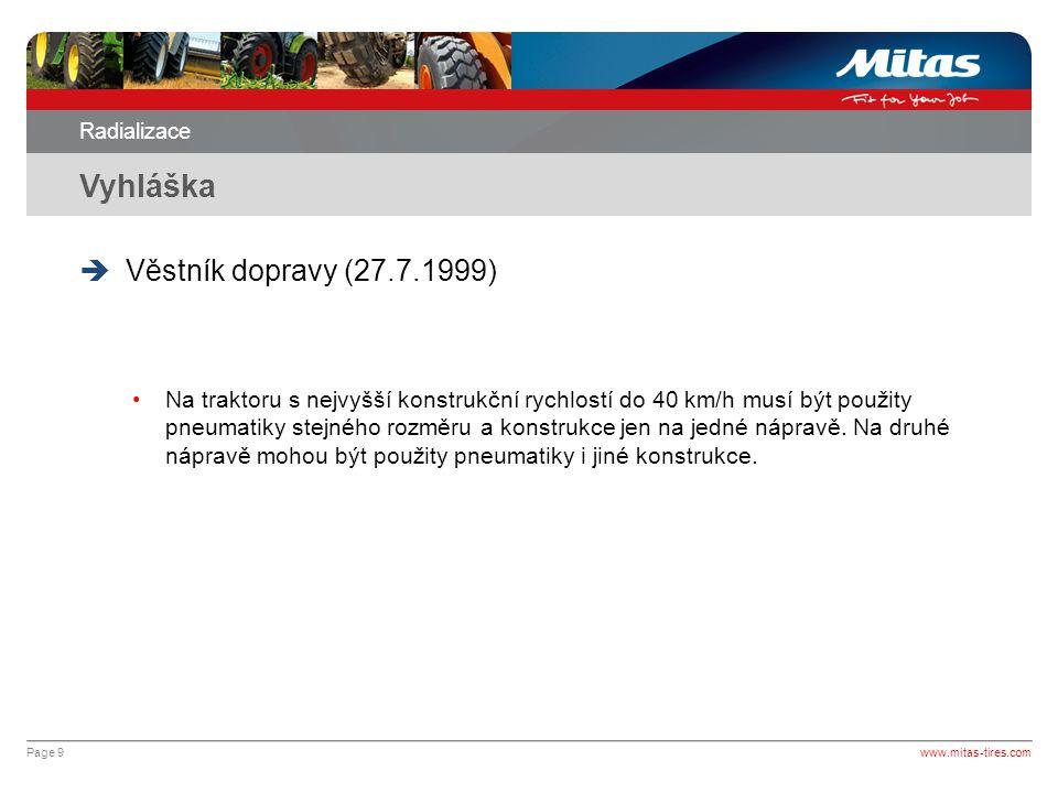 Vyhláška Věstník dopravy (27.7.1999)