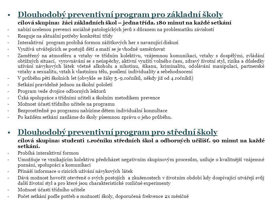 Dlouhodobý preventivní program pro základní školy