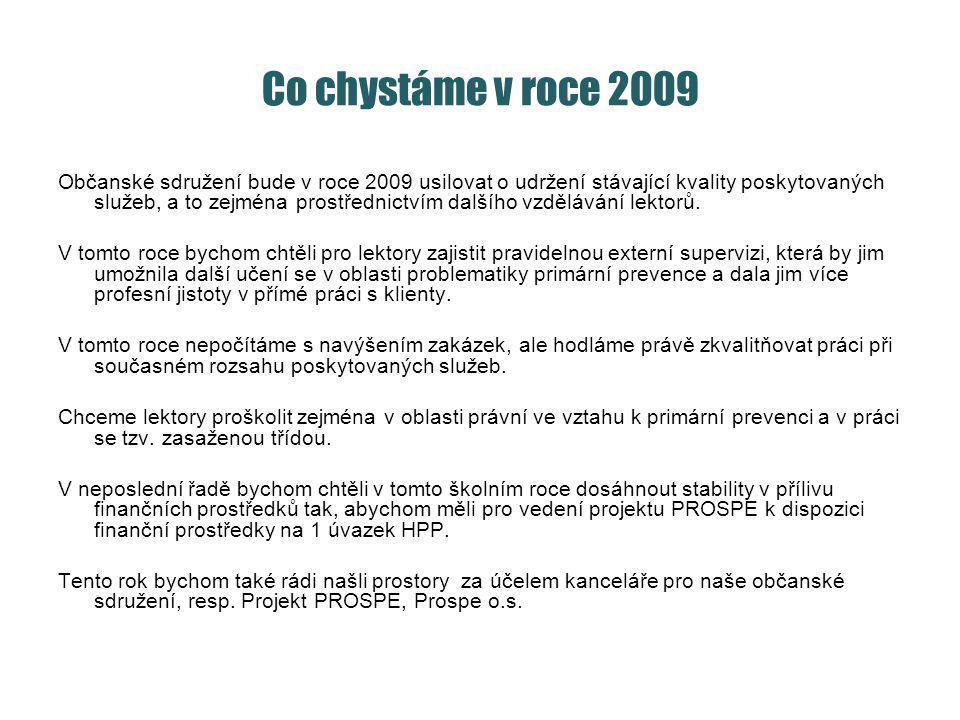 Co chystáme v roce 2009