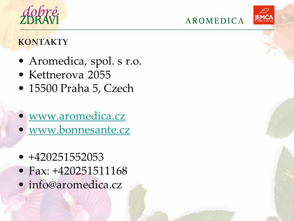 Aromedica, spol. s r.o. Kettnerova 2055 15500 Praha 5, Czech