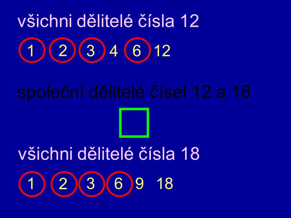 všichni dělitelé čísla 12