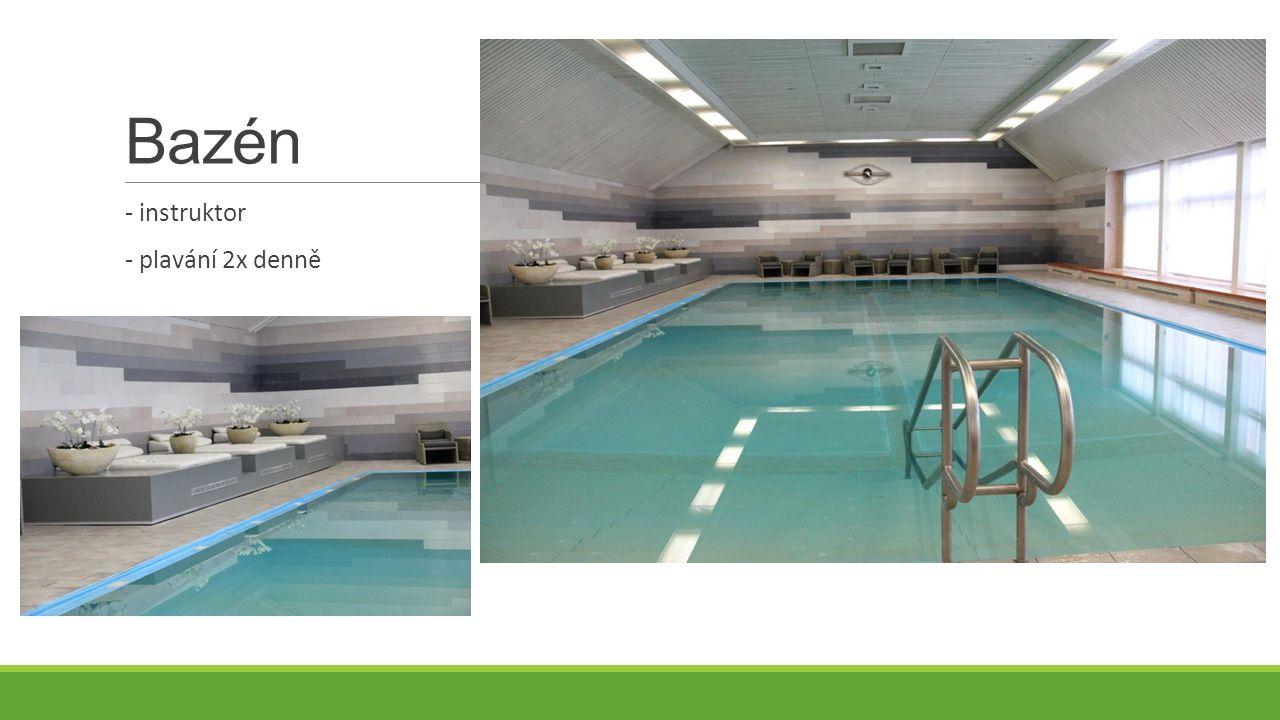 Bazén - instruktor - plavání 2x denně