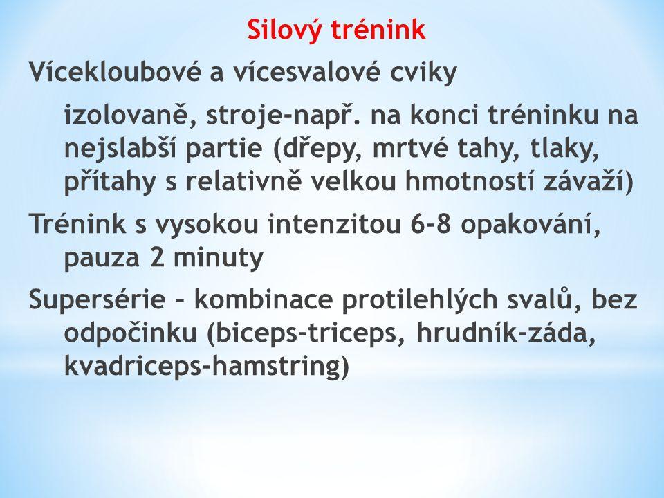 Silový trénink Vícekloubové a vícesvalové cviky.