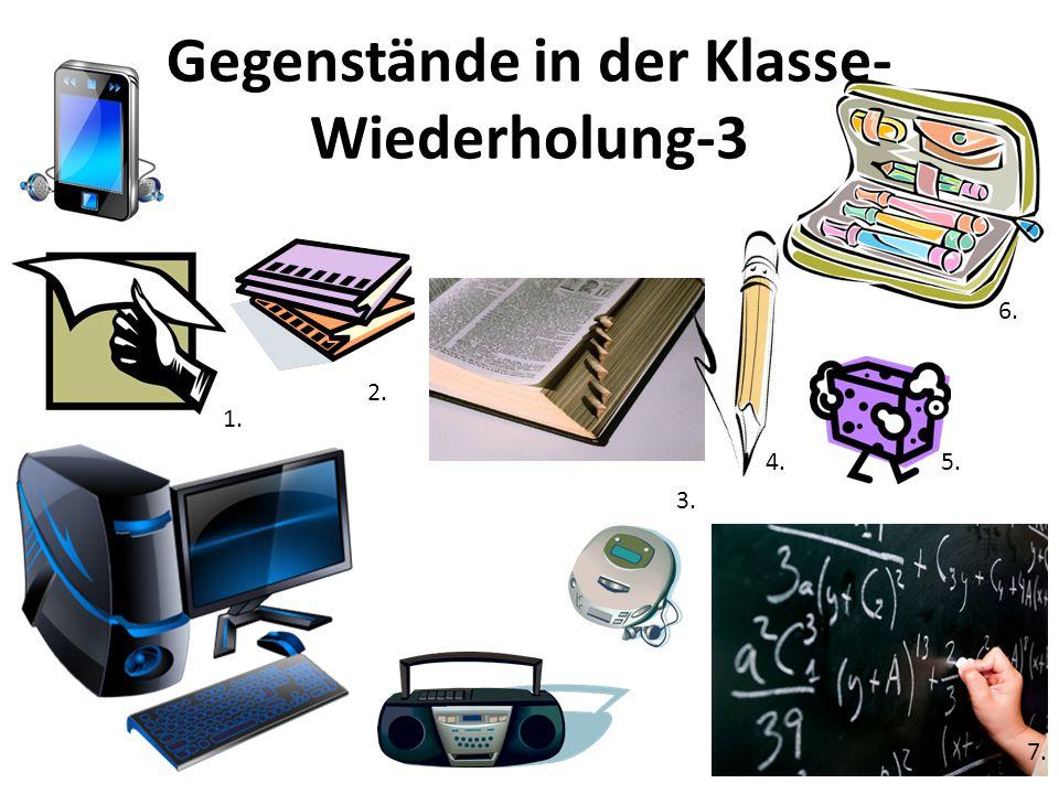 Gegenstände in der Klasse-Wiederholung-3