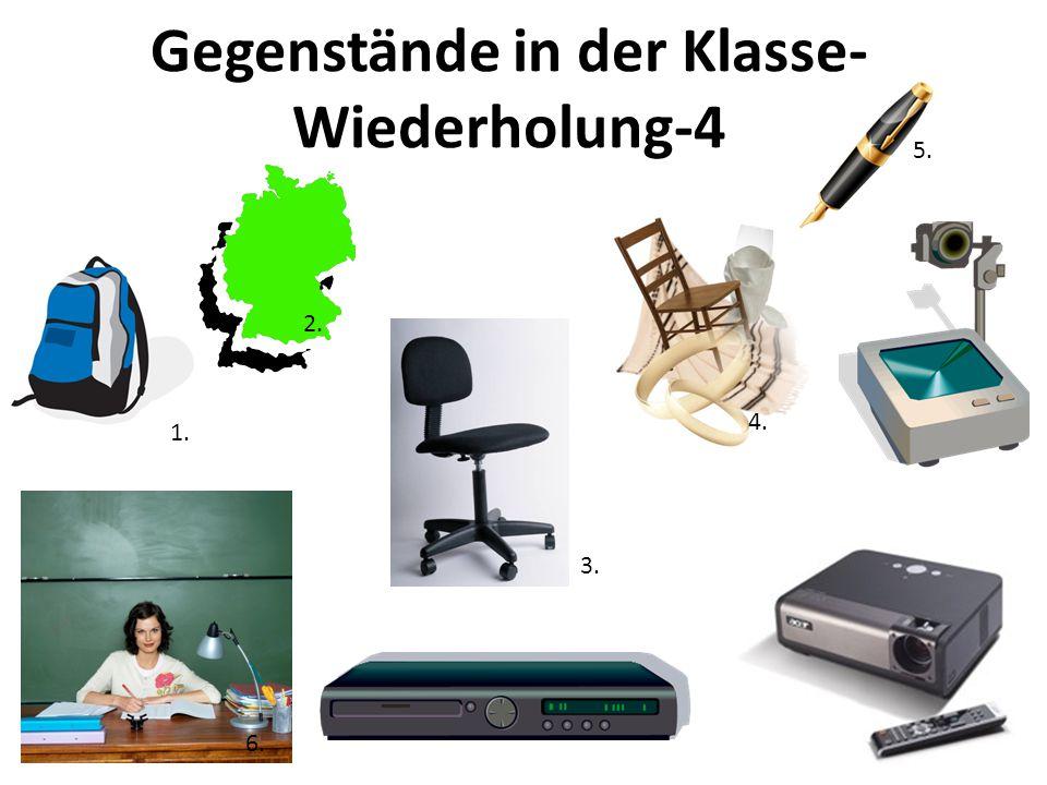 Gegenstände in der Klasse-Wiederholung-4