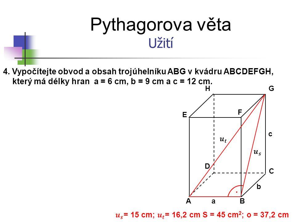 𝒖 𝒔 = 15 cm; 𝒖 𝒕 = 16,2 cm S = 45 cm2; o = 37,2 cm