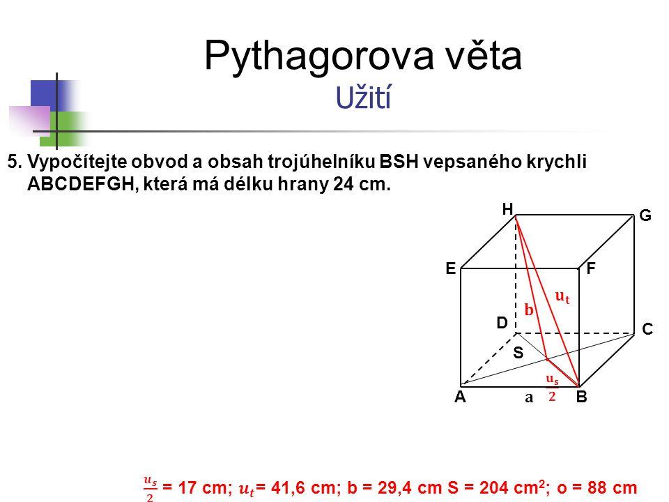 𝒖 𝒔 𝟐 = 17 cm; 𝒖 𝒕 = 41,6 cm; b = 29,4 cm S = 204 cm2; o = 88 cm