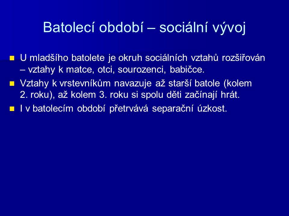 Batolecí období – sociální vývoj