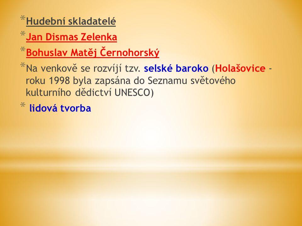 Hudební skladatelé Jan Dismas Zelenka. Bohuslav Matěj Černohorský.