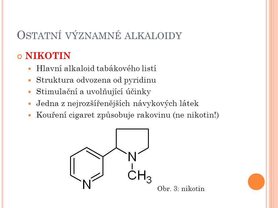 Ostatní významné alkaloidy