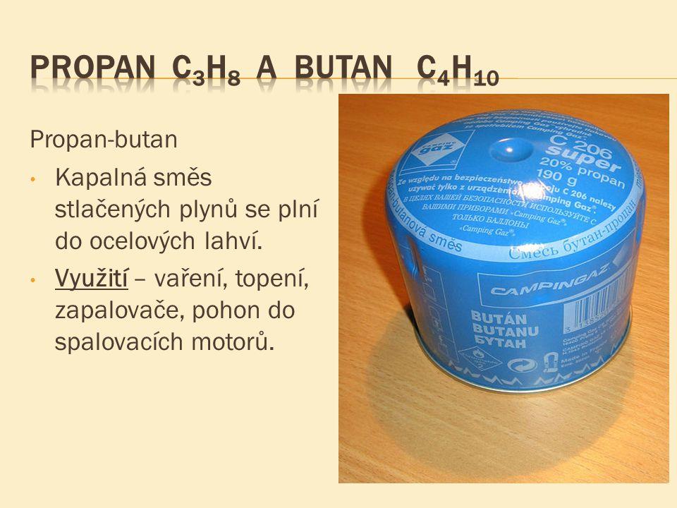 Propan C3H8 a butan C4H10 Propan-butan