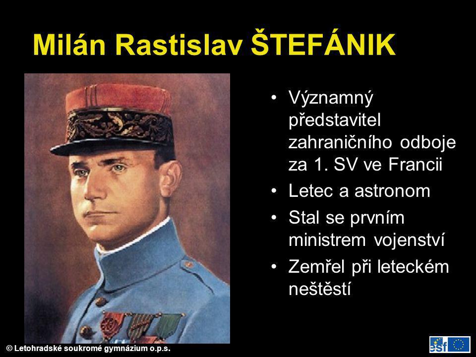 Milán Rastislav ŠTEFÁNIK