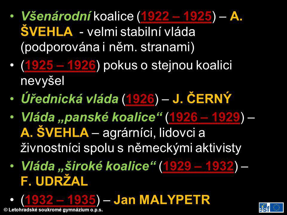 Všenárodní koalice (1922 – 1925) – A
