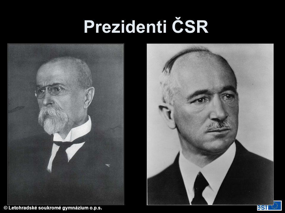 Prezidenti ČSR