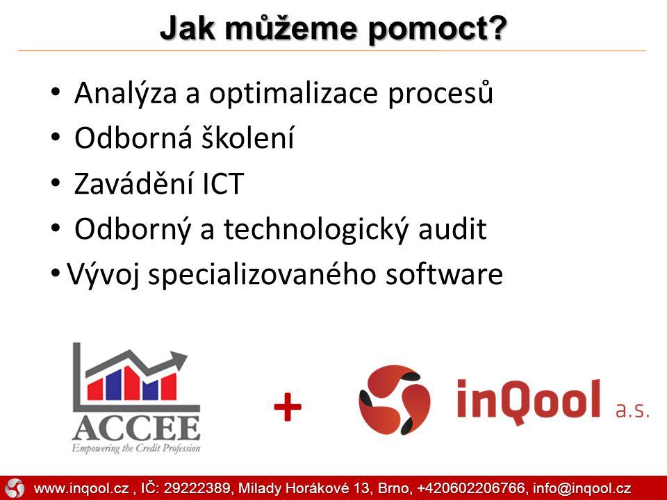 + Jak můžeme pomoct Analýza a optimalizace procesů Odborná školení