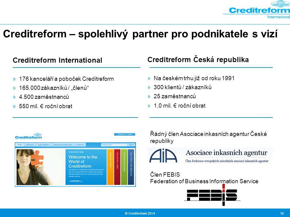 Creditreform – spolehlivý partner pro podnikatele s vizí