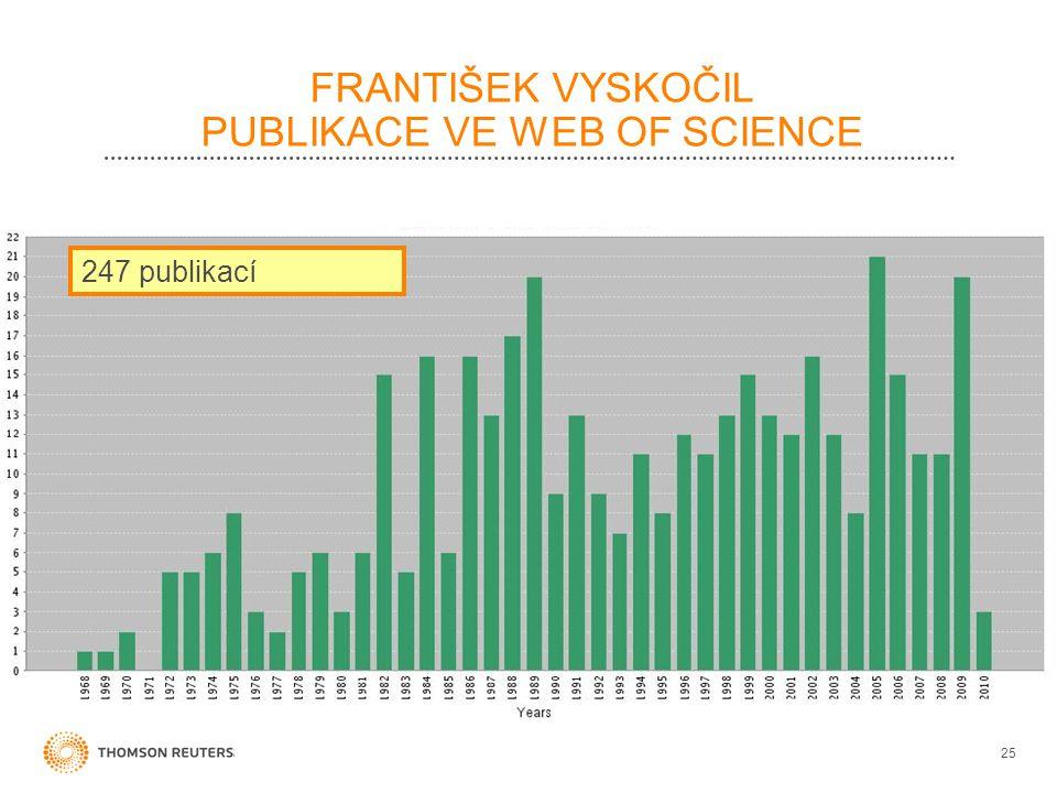 FRANTIŠEK VYSKOČIL PUBLIKACE VE WEB OF SCIENCE