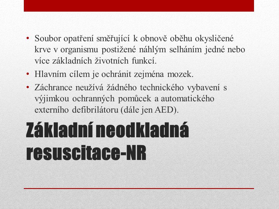 Základní neodkladná resuscitace-NR