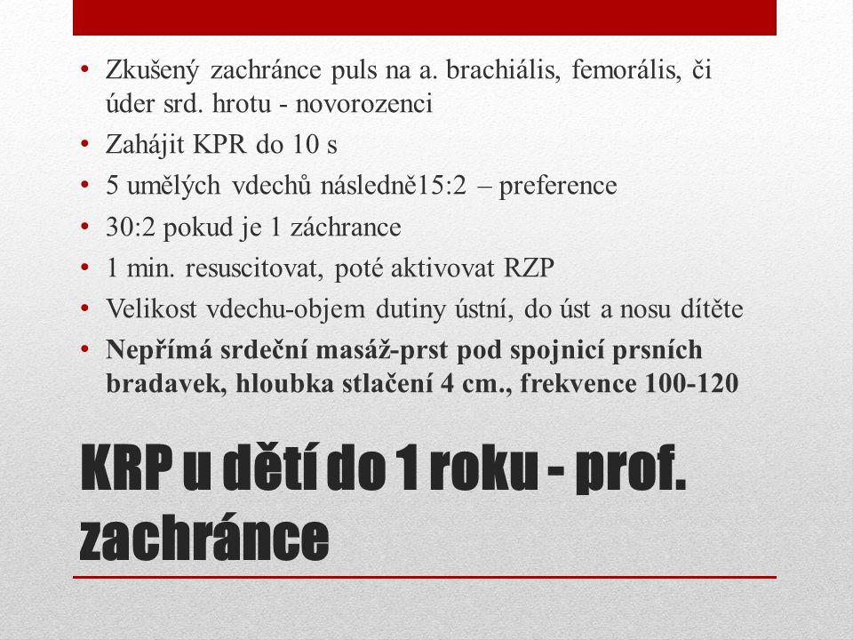 KRP u dětí do 1 roku - prof. zachránce