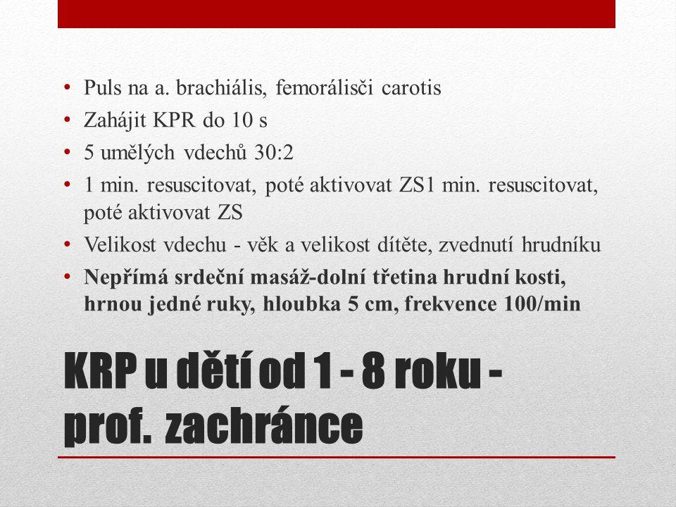 KRP u dětí od 1 - 8 roku -prof. zachránce