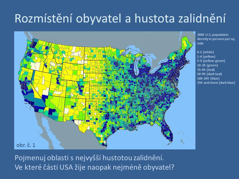 Rozmístění obyvatel a hustota zalidnění