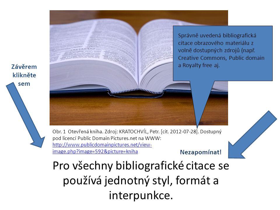 Správně uvedená bibliografická citace obrazového materiálu z volně dostupných zdrojů (např. Creative Commons, Public domain a Royalty free aj.