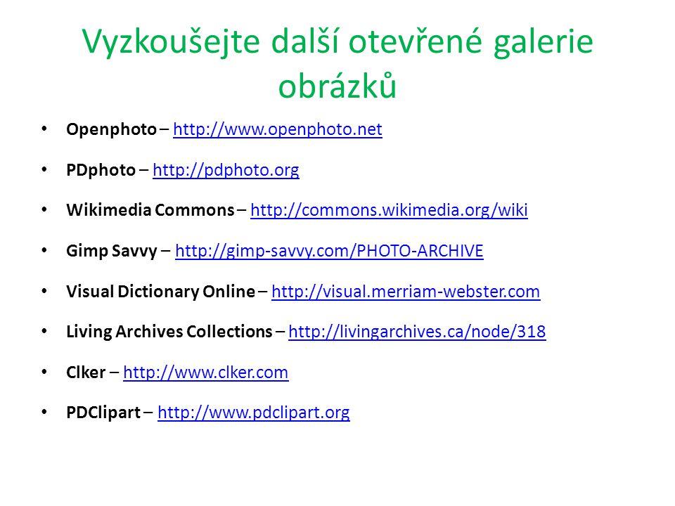 Vyzkoušejte další otevřené galerie obrázků
